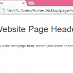 Create web page header using bootstrap classes in HTML,PHP