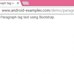 Create p Paragraph tag in HTML using Bootstrap for Fixed Width