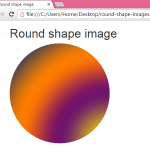 Create Round Circle shape images in HTML,PHP using Bootstrap classes