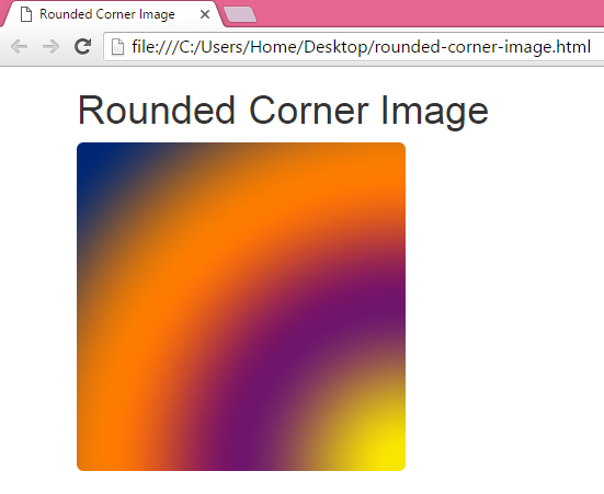 Create rounded corner image in HTML,PHP using Bootstrap