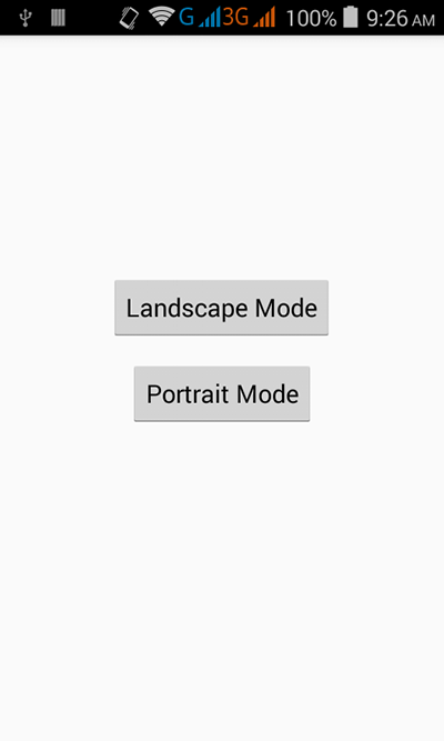 Change screen orientation in android programmatically on Button