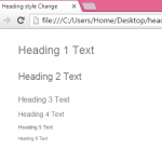 Create heading tag with different font style using Bootstrap in HTML,PHP example tutorial