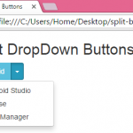 Create Split Standalone Dropdown menu buttons using Bootstrap in HTML,PHP