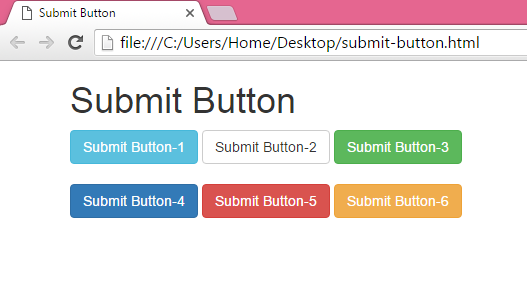 create input type submit button using bootstrap classes with
