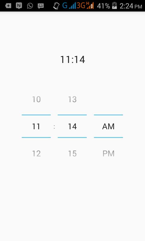Add setOnTimeChangedListener on TimePicker in android