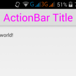 Set/Change Action Bar title text size in android programmatically