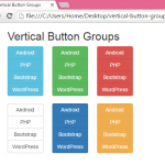 Create vertical menu Button groups using Bootstrap classes in HTML,PHP