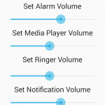 Android AudioManager volume control example tutorial using seekbar