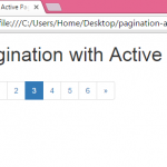 Create Pagination with Active Highlight selected page number using Bootstrap in HTML,PHP