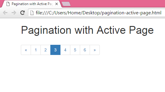 Create Pagination with Active Highlight selected page number