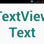 Add/Set BitmapShader texture effect on textview text in android