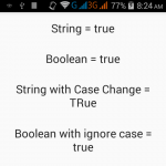 Convert String value to Boolean in Java Android with example