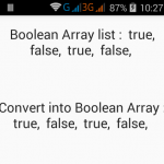 Convert Boolean ArrayList to Boolean List in Java Android