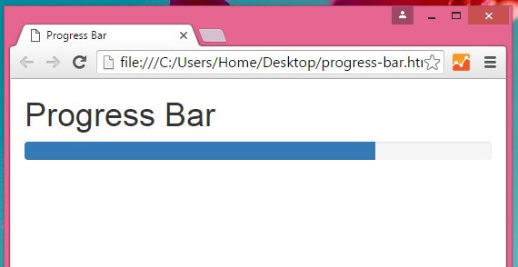Create Progress Bar using Bootstrap classes in HTML,PHP