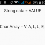 Split string into characters array in Java Android