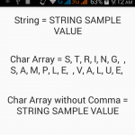 Convert string variable value to character array in Java Android