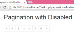 Create Pagination with Disabled non clickable currently open page using Bootstrap in HTML,PHP