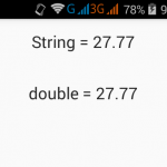 Convert string into double in Java Android example
