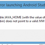 Android Studio: The environment variable JAVA_HOME does not point to a valid JVM installation error solution