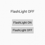 Turn on only camera FlashLight programmatically in android