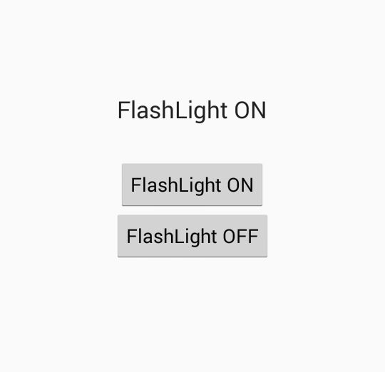 Turn on only camera FlashLight programmatically in android - Android