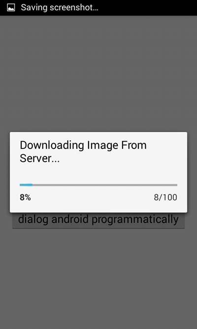 Download image with showing horizontal progress bar dialog