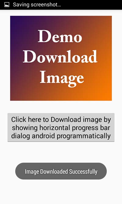 Download image with showing horizontal progress bar dialog android
