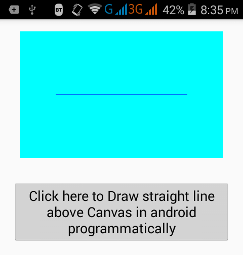 Create Draw straight line above Canvas in android programmatically