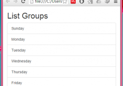 Create simple vertical List Groups using Bootstrap classes in HTML,PHP