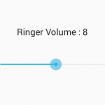 Set Ringer volume in android using seekbar programmatically