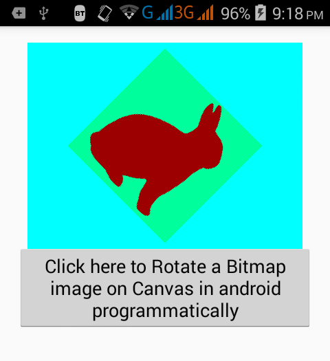 Rotate Bitmap image on Canvas in android programmatically