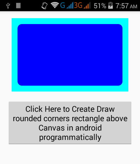 Create Draw rounded corners rectangle above Canvas in
