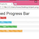 Create Striped Progress Bar using Bootstrap classes in HTML,PHP