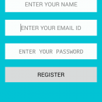 Android create User Registration form with PHP MySQL insert data online example tutorial