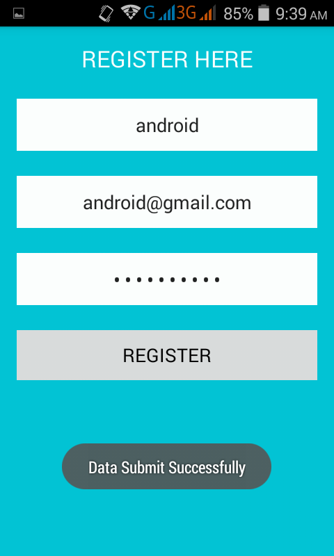 ... with PHP MySQL insert data online example tutorial - Android Examples
