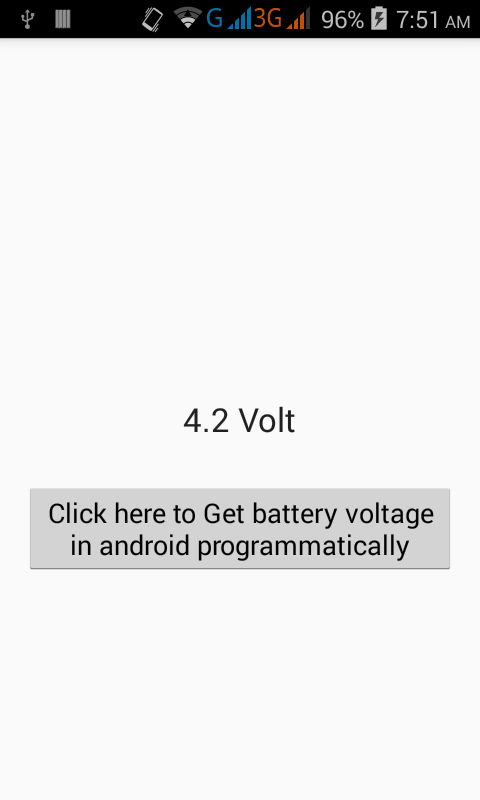 Get/Check battery voltage in android programmatically - Android Examples