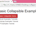 Show Hide text in HTML PHP using Bootstrap collapse class on button click