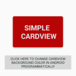 Change CardView background color in android programmatically