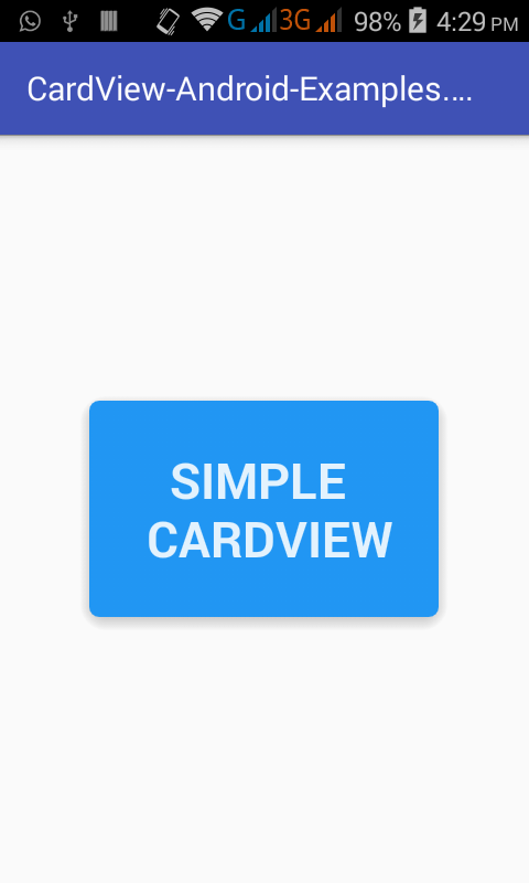 Android CardView example tutorial using Android Studio Step by Step