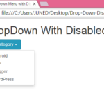 Create Drop Down Menu with Disabled item using Bootstrap classes in HTML,PHP