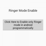 Enable only Ringer mode in android programmatically