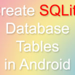 Create SQLite Database with Tables in Android Studio Eclipse example tutorial