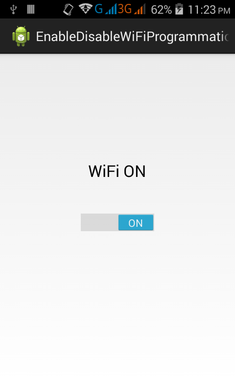 Enable Disable WiFi programmatically in android on button click