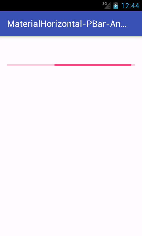 Create Material Design horizontal Progress Bar in android