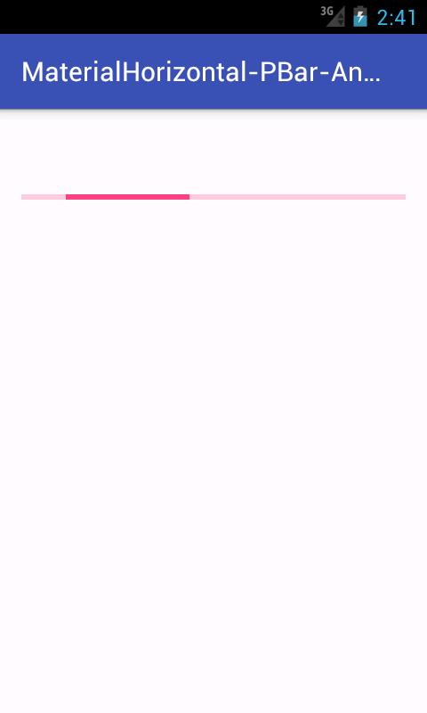 Create Material Design horizontal Progress Bar in android tutorial