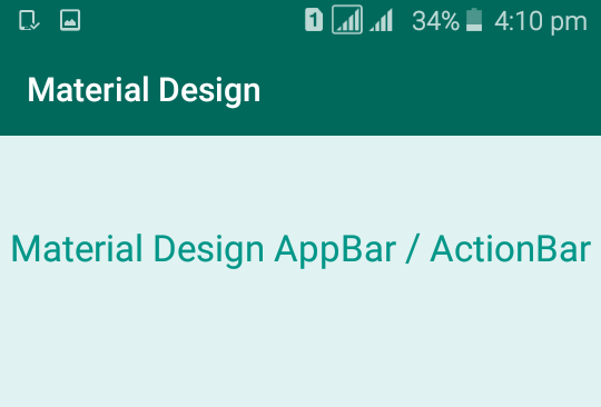 Make Material Design App Bar/Action Bar style in Android Studio