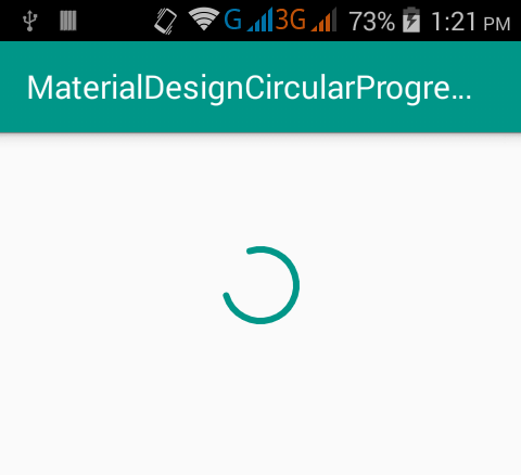 Create Material Design Circular ProgressBar in android on