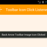 Add OnClickListener on Toolbar widget inside image Icon Programmatically