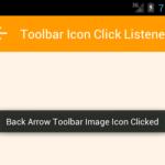 Add OnClickListener on Toolbar widget inside image Icon Programmatically