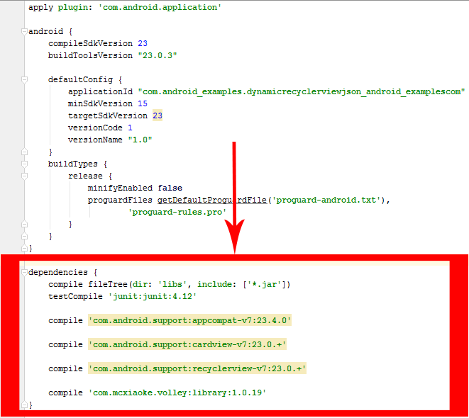 parse json in android example